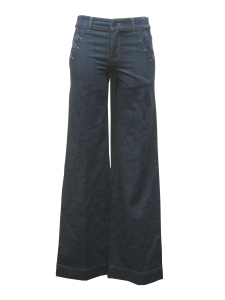Lady Dutch Denim Sailor Trousers $65