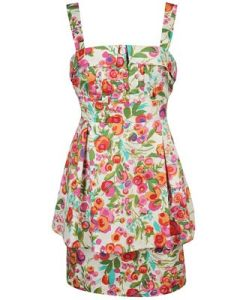 Floral Halter Layer Dress $27.80