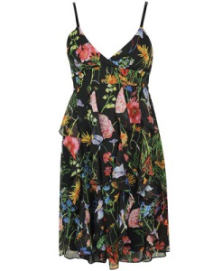 Spritzy Floral Chiffon Dress $29.80