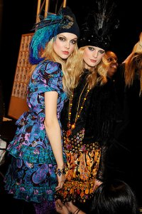 Backstage At Anna Sui Fall 2009