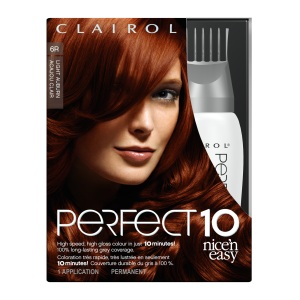 "Clairol Perfect 10 By Nice 'N Easy, ""Light Auburn"" $15.99"
