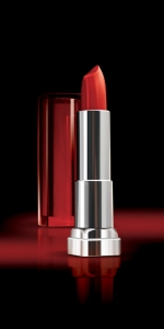 "Maybelline Color Sensational Lipstick in ""Are You Red-dy"", $9.99 at drugstores and mass retailers"