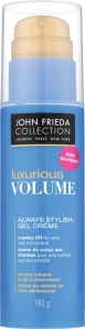 John Frieda Luxurious Volume Always Stylish Gel Creme, $10.49 at drugstores