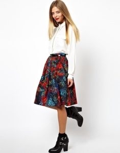 ASOS Midi Skirt in Animal Baroque Print, $67.52 at asos.om