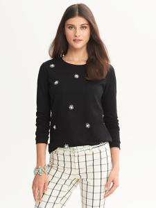 Banana Republic Floral Beaded Pullover, $69.50