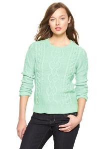 Gap Cable Knit Pullover, $44.99 on sale