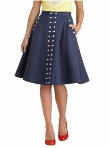 Buttoned Up In Style Skirt, $67.99 US at ModCloth.com