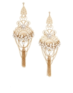 ASOS Filigree Chain Chandelier Earrings, $22.51 at asos.com