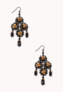 Forever 21 Floral Chandelier Earrings $6.80