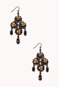 Forever 21 Floral Chandelier Earrings $6.80