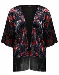 Topshop Floral Velvet Kimono $80