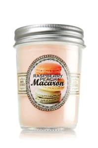 Bath & Body Works Raspberry Peach Macaron Mason Jar Candle, $12.50